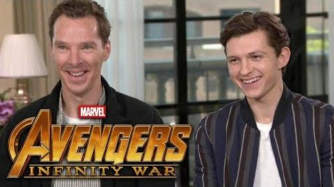 'Avengers Infinity War' Benedict Cumberbatch and Tom Holland (FULL INTERVIEW)