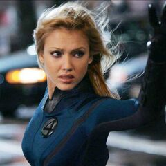 The Invisible Woman using her powers.