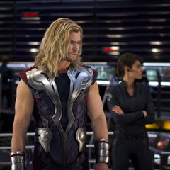 Thor and Maria Hill.