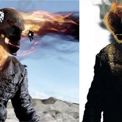 CGI work on Ghost Rider.