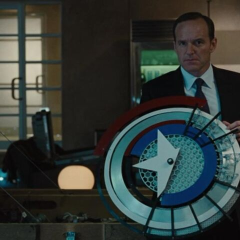 Prototype of Captain America's shield.
