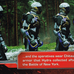 HYDRA soldiers armed with Chitauri weaponry.