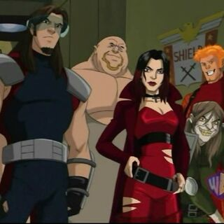 Scarlet Witch in Xavier's vision of the future.