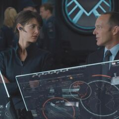 Maria Hill and Phil Coulson.