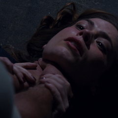 Carter being choked by her final adversary