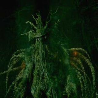 The Man-Thing emerging from the swamp