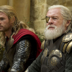 Thor with Odin.