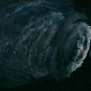 Galactus about to devour earth.