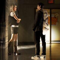 Gwen seeing Peter after class.