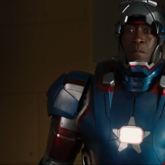Rhodey in the Iron Patriot armor.