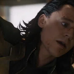 Loki defeated by The Avengers.