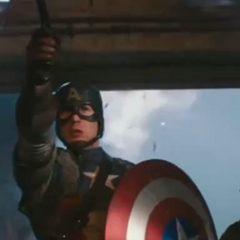 Captain America in action.