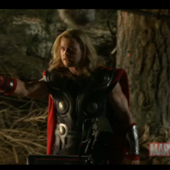 Thor in a forest.