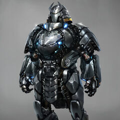 Concept art for the Silver Samurai.