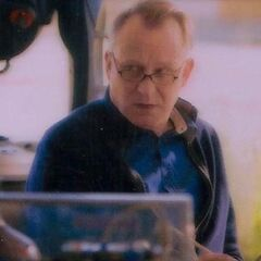 Doctor Selvig in Jane Foster's lab