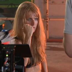 Gwyneth Paltrow On Set as Pepper Potts