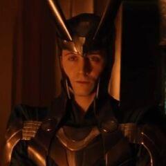 Loki in full armour.