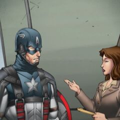 Peggy in the Captain America IOS game