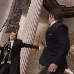 Loki attacking a human.