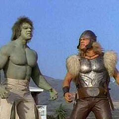 The Hulk with Thor