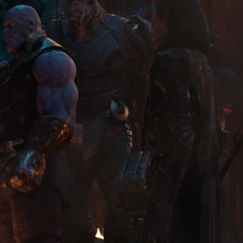 Thanos with the Black Order.