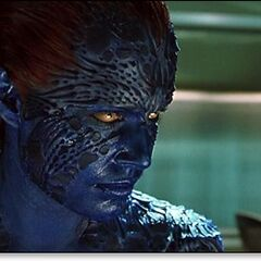 Mystique searching Stryker's files in <i>X2</i> (2003).