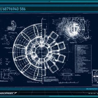 Arc Reactor blueprints specs.