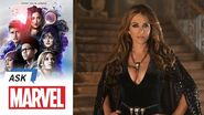 Elizabeth Hurley answers YOUR Questions! Ask Marvel