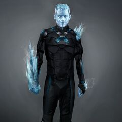 Concept art for Iceman in <i>X-Men: Days of Future Past</i>.