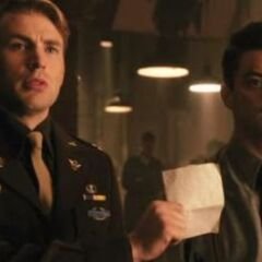Howard Stark with Steve Rogers.