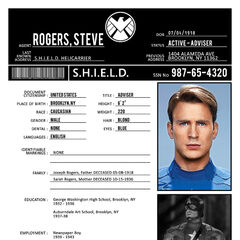 S.H.E.I.L.D file on Steve Rogers.