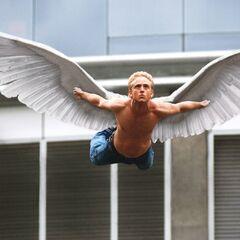 Angel flying.