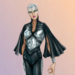 Concept art for Storm in <i>X-Men</i>.