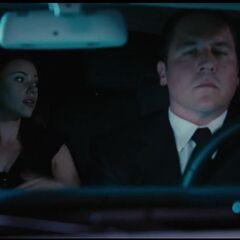 Natasha in a Car with Hogan