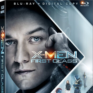 The X-Men: First Class Blu Ray cover verison with Clarles