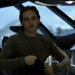 John leaving the jet