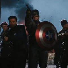 Captain America and The Howling Commandos.