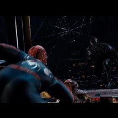 Spider-Man facing Venom