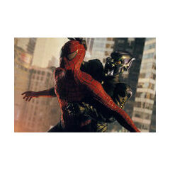 Spidey's battle with the Green Goblin.