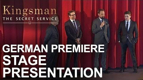 Kingsman The Secret Service German Premiere - Stage Presentation
