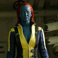 Mystique with her X-Men outfit.