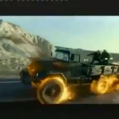 Truck transformed with Hellfire.