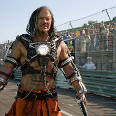 Ivan Vanko using the <b>Whiplash</b> armor.
