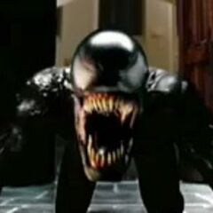 Venom baring his fangs