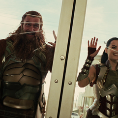 Sif and the Warriors Three find Thor.