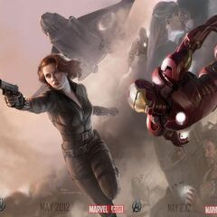 Promo banner of Iron Man & Black Widow.