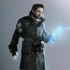 Concept art of Iceman in <i>Days of Future Past</i>.