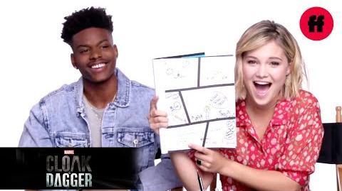 Marvel's Cloak & Dagger Olivia Holt And Aubrey Joseph Draw A Comic Book Freeform