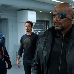 Steve Rogers, Tony Stark and Nick Fury.