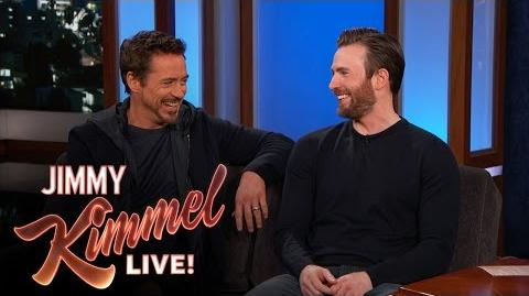 Chris Evans and Robert Downey Jr